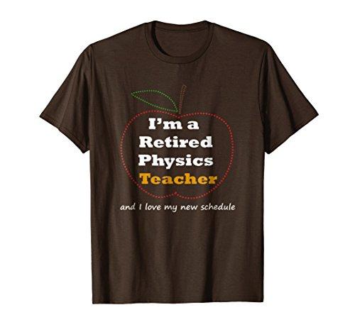 Mens Funny Physics Teacher Retirement T Shirt Gift Novelty 3XL Brown -