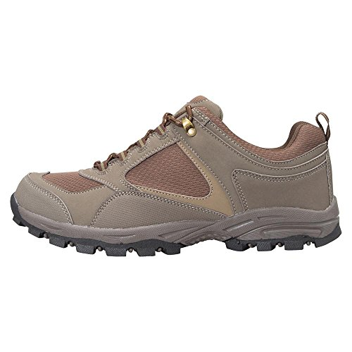 Mountain Warehouse McLeod Mens Shoes - Lightweight All Season Shoes, Durable Walking Shoes, Breathable Hiking Shoes, Mesh Lining Running Shoes - for Travelling, Camping Khaki