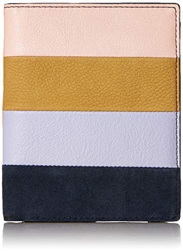 (Fossil Womens Leather RFID Passport Case, Bright Patchwork)