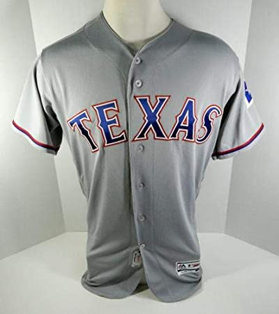 quality design 8426f 15e72 2018 Texas Rangers Juan Centeno #8 Game Issued Grey Jersey ...
