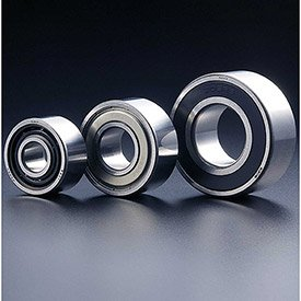 20mm Metric Ball Bearings - SMT 5204ZZ Double Row Angular Contact Ball Bearing, Double Shielded, OD 47mm, Bore 20mm, Metric, (Minimum Quantity: 2)