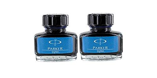 Parker Quink Fountain Pen Ink Bottle, 30ml, Blue Ink, Pack of 2