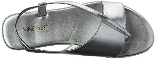 Nine West Golper metálico vestido de la sandalia Silver