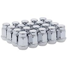 White Knight 1704S-20AM 1/2-Inch-20 Thread Size Bulge Acorn Lug Nut, Chrome, 20-Pack