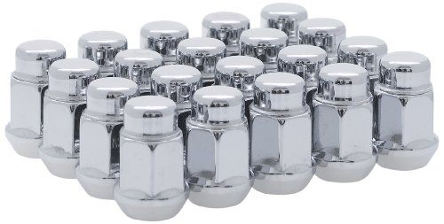 White Knight 1707S-20AM Chrome Finish 12mm x 1.50 Thread Size Bulge Acorn Lug Nut, (Pack of 20) by White Knight Wheel Accessories