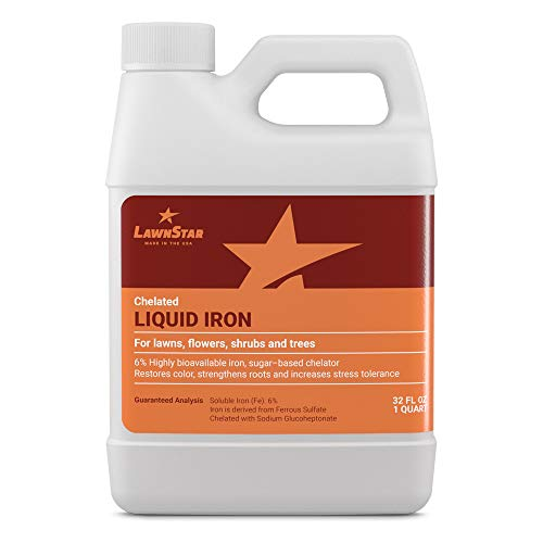 LawnStar Chelated Liquid Iron (32 OZ) for Plants – Multi-Purpose, Suitable for Lawn, Flowers, Shrubs, Trees – Treats…