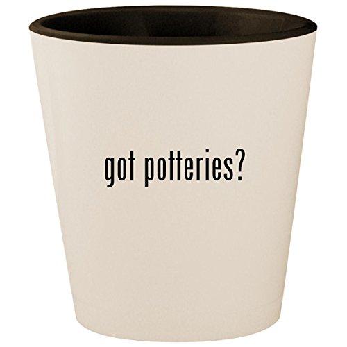 got potteries? - White Outer & Black Inner Ceramic 1.5oz Shot Glass ()