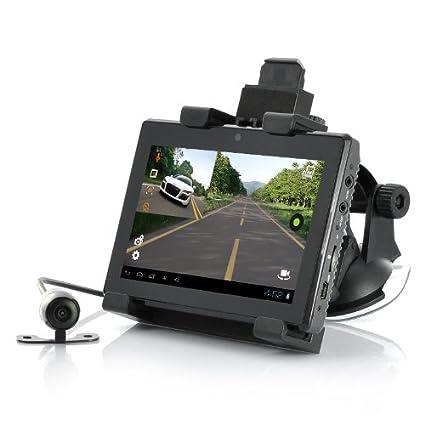 BW® Android Tablet DVR para coche con GPS – Pantalla táctil capacitiva de 5 pulgadas