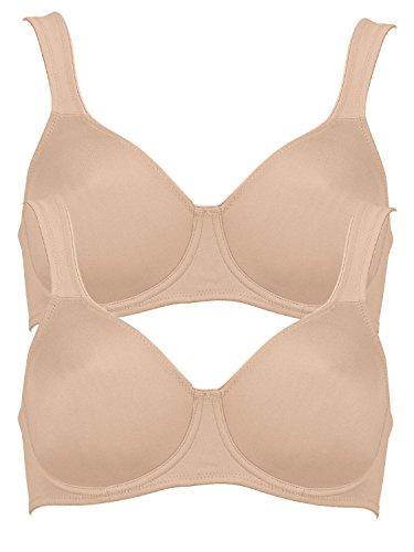 Anita Rosa Faia Women's Underwired Seamless Bra 5490 (Pack of 2) Skin 44 C (Skin Underwired Bra)