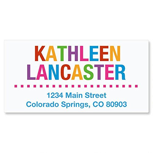 Whimsical Name Self-Adhesive, Flat-Sheet Deluxe Address Labels