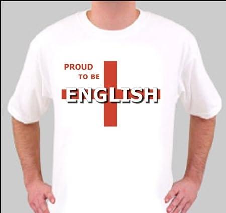 TL1024 grande blanco orgulloso de ser inglés divertida camiseta de ...