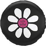 Life is Good Unisex Tire Cover Daisy lig, Night Black, 29'