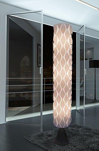 White floor lamp HBK005L modern contemporary art decor for living room, bedroom, corner, teen, girl's room