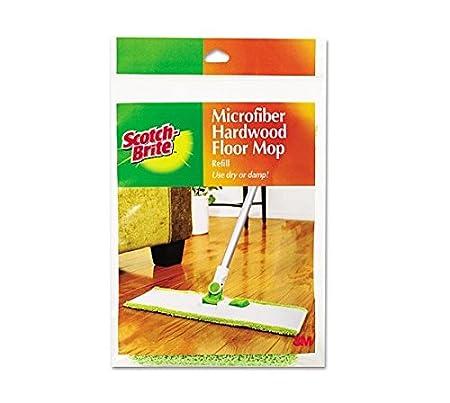 Amazoncom ScotchBrite Microfiber Hardwood Floor Mop Refill - Scotch brite microfiber hardwood floor mop