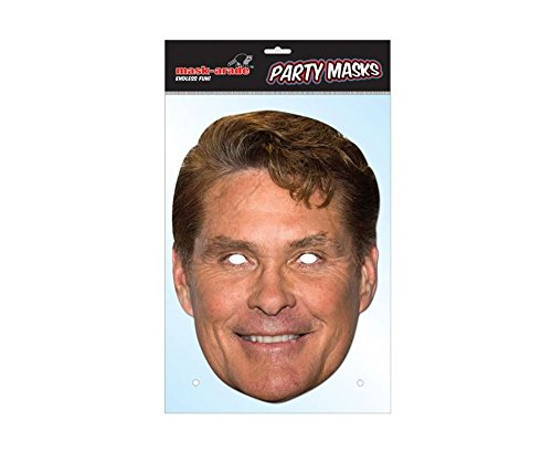 David Hasselhoff Celebrity Mask, Cardboard Face and Fancy Dress Mask - David Hasselhoff Fancy Dress Costume