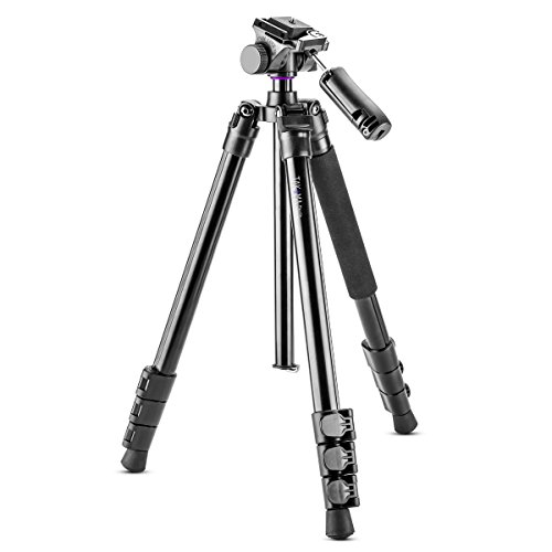 Takama Flip-Zip Tripod Monopod Kit, for Camera andSmartphone with Mount Head and Lightweight Compact Bag for Multi-Functional Photo, Video and Phone Photography