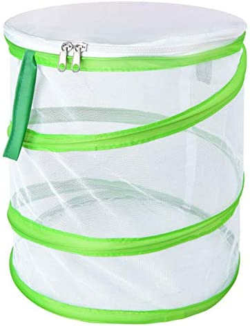 Butterfly Habitat Insect Cage – Round Pop Up Mesh Net 12 x 14 Inches Tall with Side and Top Windows