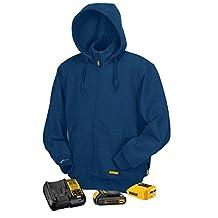 Radians DCHJ069C1-L Dewalt 20V/12V MAX Heated Blue Fleece Hoodie Kit, Large
