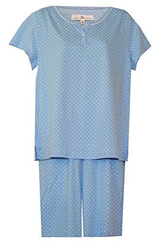 Karen Neuburger Dot Bermuda Shorts Pajamas (Light Blue/White Dot Print, Large) ()