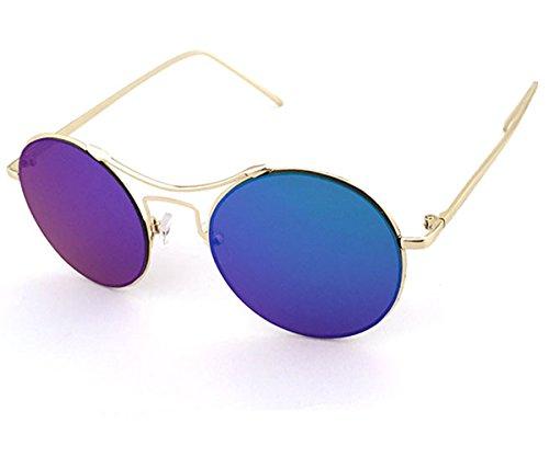 Heartisan Lennon Style Round Metal Frame Sunglasses with Polarized Lenses C5