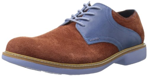 Cole Haan Heren Geweldig Jones Zadel Oxford Kastanje Suède / Chambray