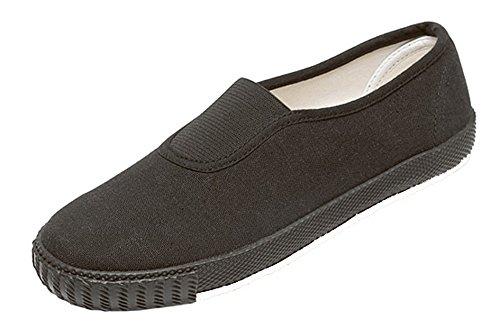 Unique - Zapatillas para deportes de interior para niño negro - negro