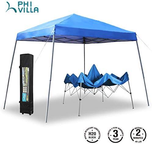 PHI VILLA 12 x12 Slant Leg UV Block Sun Shade Canopy