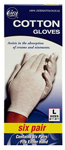 - CARA Moisturizing Eczema Cotton Gloves, Large, 6 Pair