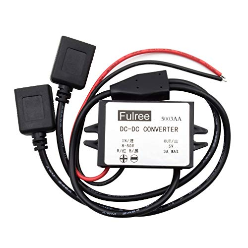 GERI DC DC Converter Buck Step Down Module 8-50V 48v 36v 24v 12v to 5V 3A Dual USB Output