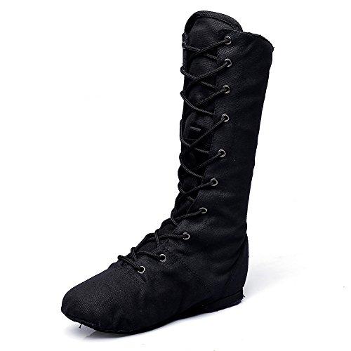 Dames Canvas Cosplay Dansschoenen Rood / Zwart / Wit Zwart