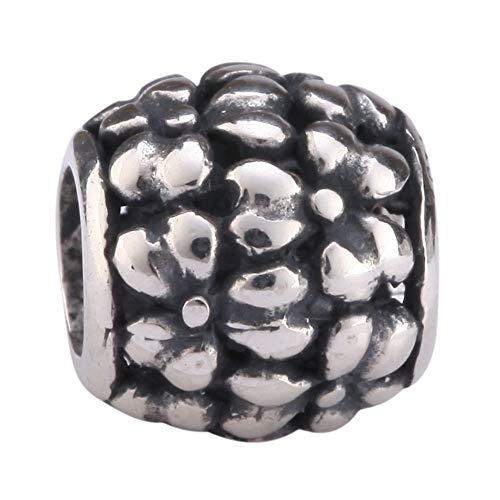 Beautiful Daisey Flower Charm Sterling Silver Charm Bead fits All Charm Bracelets Women Girls Birthday Gifts EC477