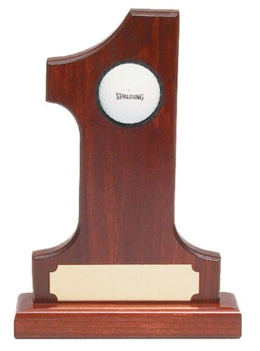 ProActive Rosewood Hole In One Trophy (Ball Hole In One Plaque)