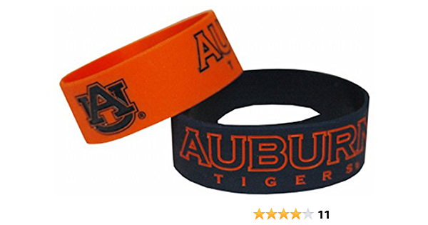 NCAA Texas Longhorns Wide Band Silicone Bracelet Team Color Pack of 2