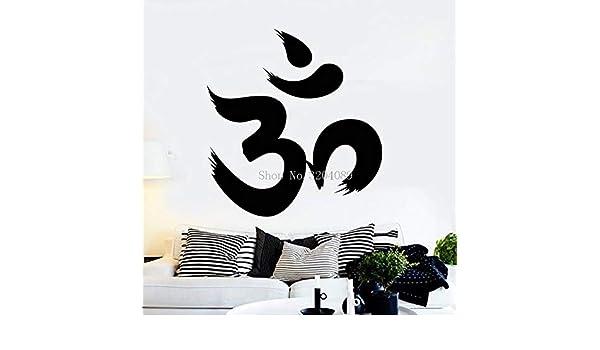 Vinilo hindú tatuajes de pared Om caracteres sánscrito hinduismo ...