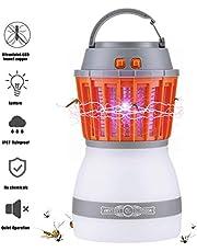 QcoQce Insektenvernichter, 2019 Camping Moskito Lampe mit Wasserfeste und Transportable Laterne,Zelt Licht IP67 Regendichte Wanze und 2200mAh Wiederaufladbar USB für Innen und Außen
