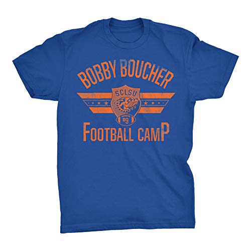 Bobby Boucher Football Camp - Mud Dogs Water Boy Funny Vintage Movie T-Shirt - Royal-XL