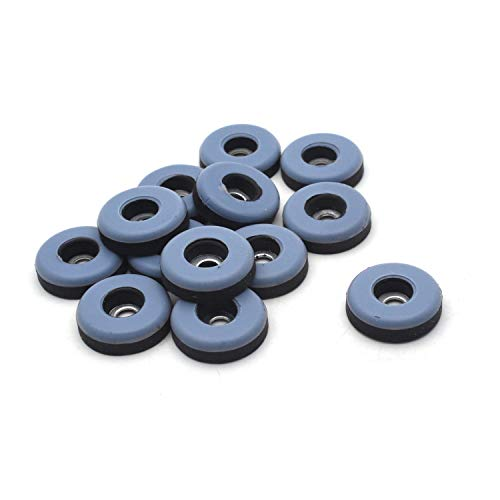 Antrader 1 Inch Screw on Furniture Glides Sliders for Wooden Furniture, PTFE (Teflon) Chair Leg Slides able Ground Protector Anti-Abrasion Sliding Mat 12-Pack