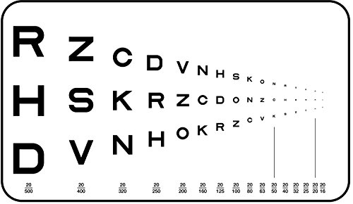 - Pocket Near Vision Eye Chart, Traditional Runge