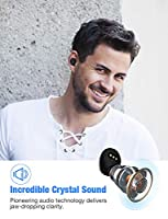 True Wireless Earbuds Bluetooth 5.0 Headphones, IPX7 Waterproof In-Ear TWS 70H Playtime 3D Stereo Deep Bass Mini Headset w/Mic Low Latency 3350mAH Charging Case Auto Pairing Noise Cancelling Earphones from Rademax
