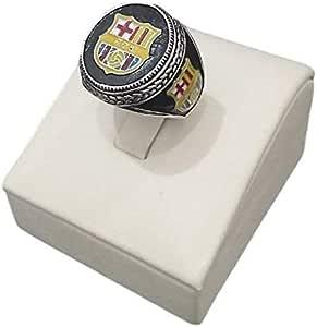 خاتم من الفضة الاسترلينية بشعار برشلونة مقاس 10