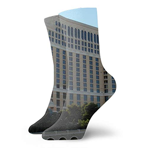 - 3D Abstract Artistic Art Printing Las Vegas Bellagio Hotel Beautifully Vector Unisex Sport Elite Socks