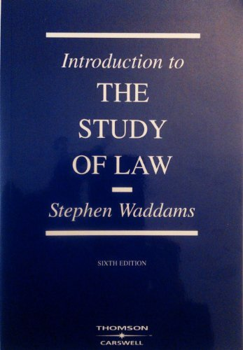 Introduction to the Study of Law, 6th Edition, 2004