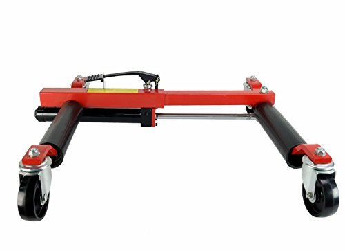 (4) Dragway Tools 12'' Hydraulic Wheel Dolly Vehicle Positioning Jack Lift Hoist with 1500 lb Capacity by Dragway Tools (Image #4)