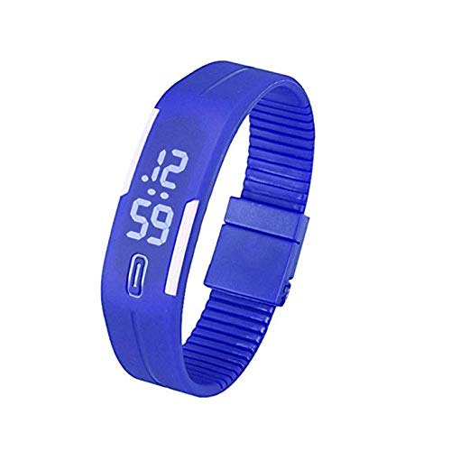 Reloj para Mujer Unisex de Digitaces LED para Hombre, Banda ...