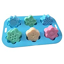 Allforhome(TM) 6 Plum Blossom Flower Silicone Cupcake Baking Mold Muffin Cups Handmade Soap Molds Polymer Clay Craft Art DIY Mold Moule à savon