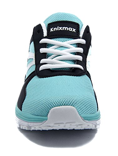 Bequeme Laufschuhe Light Turnschuhe Running Leichte Sportschuhe Sneaker Knixmax Luftkissen Blau Laufschuhe Straßenlaufschuhe Damen qwHA1F