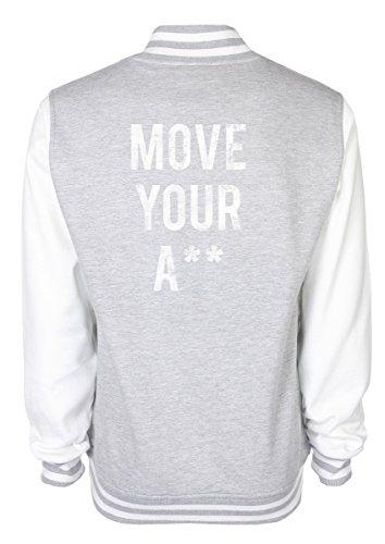 Move Your A** Varsityjacken Grau ABLTFBes0