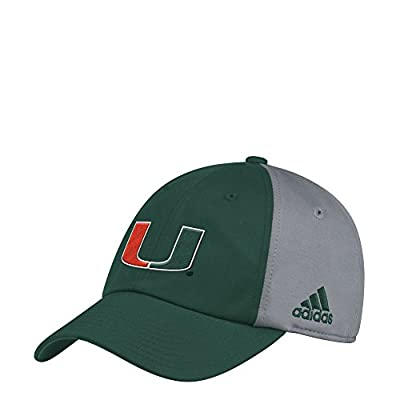 adidas Miami Hurricanes Coaches Green Sideline Climalite Adjustable Hat