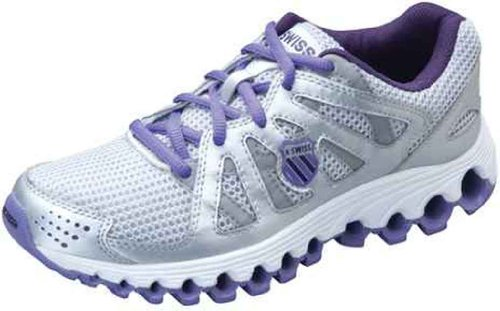 K-Swiss Tubes Run 110 Women's Running Shoe - Silver/Mysterioso/Deep Lavender (7)