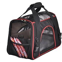 Pet Travel Carrier Crate Pet Carrier Bag Dog Cat Travel Bag Breathable Polyester Pink Single Shoulder Handbag Easy Carry Pet Bag , 2